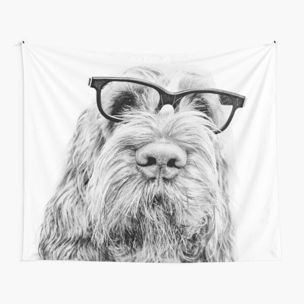 Intelligent friend Spinone Tapestry