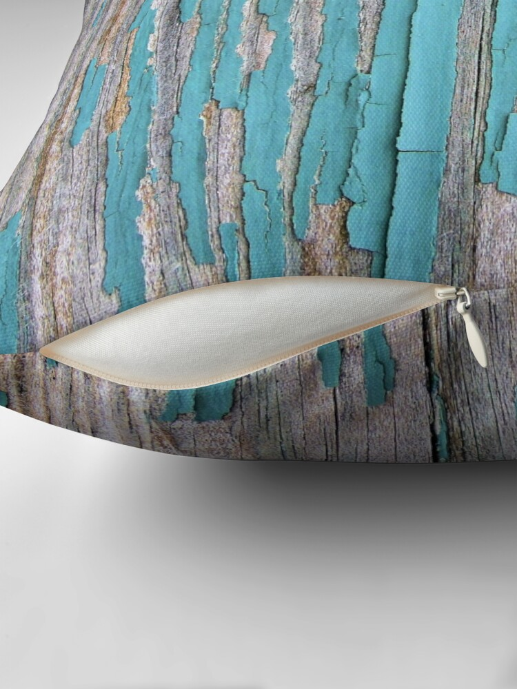 Alternate view of Shabby rustic weathered wood turquoise Floor Pillow