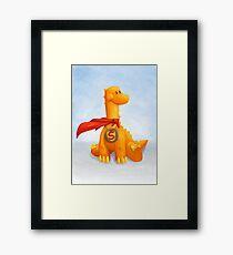 Super Dino Framed Print
