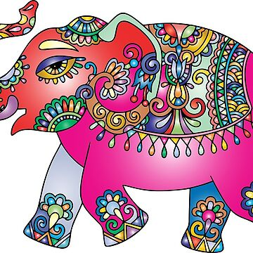 Colourful Elephant by CasCreations