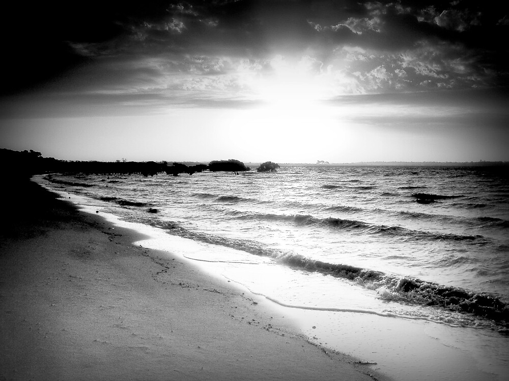 Sunset on Westerport Bay by Jurgen  Schulz