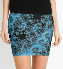 Blue and Black Paisley Mini Skirt