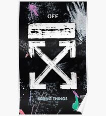 OFF WHITE Galaxy Brushed Poster