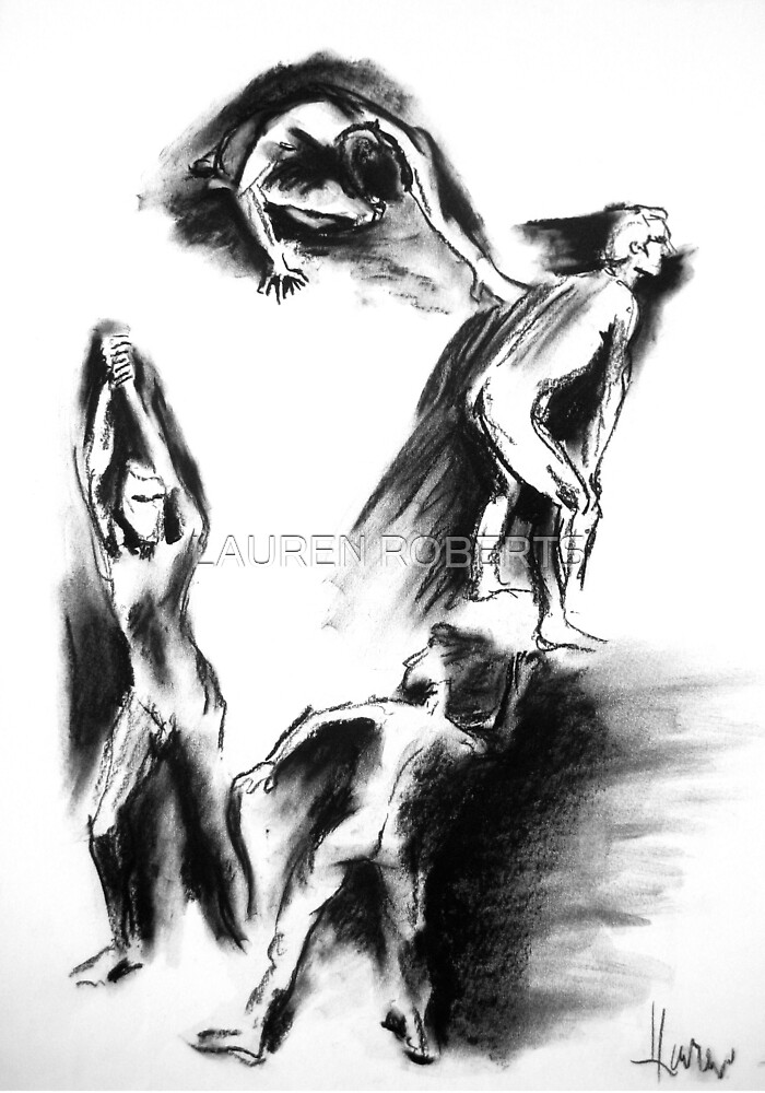 Male Nude study by LAUREN ROBERTS