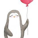 Penguin Meg Balloon Love by liliesberlin