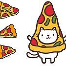 Cute pizza pattern. by Anna Alekseeva