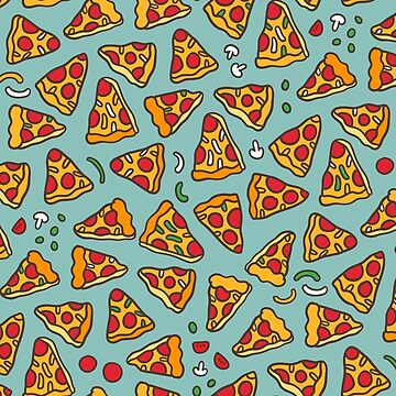 Cute pizza pattern. by kostolom3000