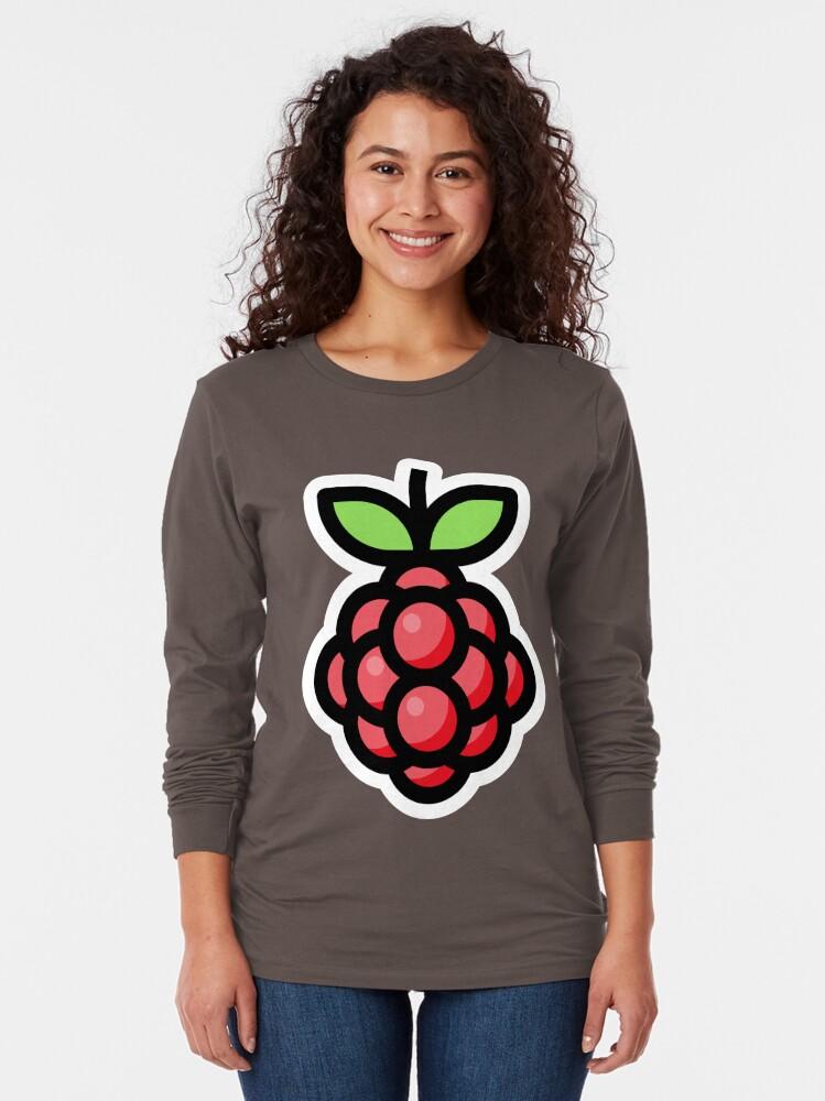 Alternate view of Raspberry Long Sleeve T-Shirt