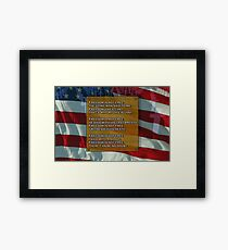 Freedom is not free. Framed Print