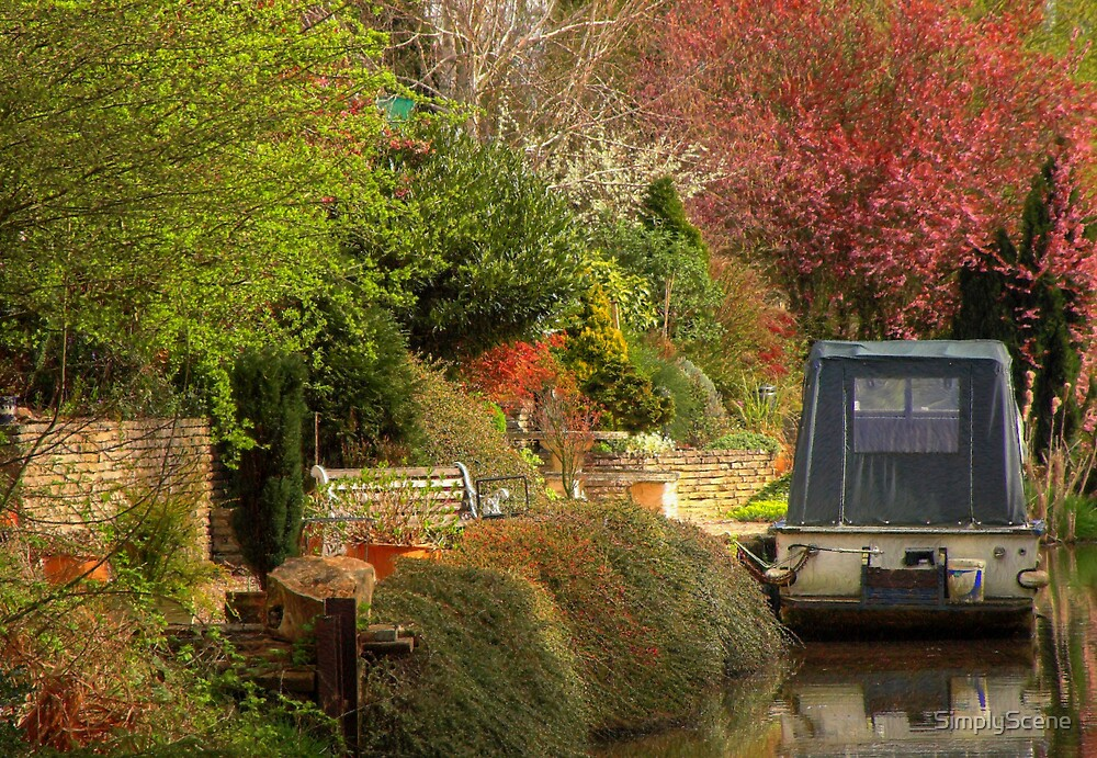 Back Yard Mooring - Coventry Canal by SimplyScene