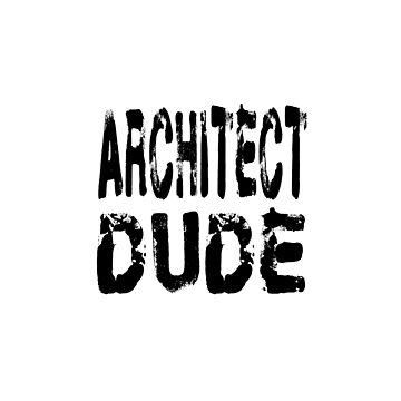 Architect Dude - Funny Architect T Shirt  by greatshirts