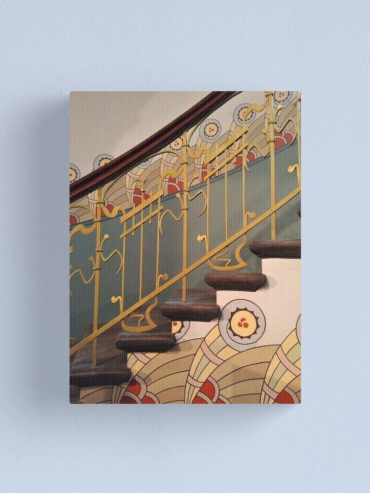 Alternate view of Art Nouveau spiral staircase Canvas Print