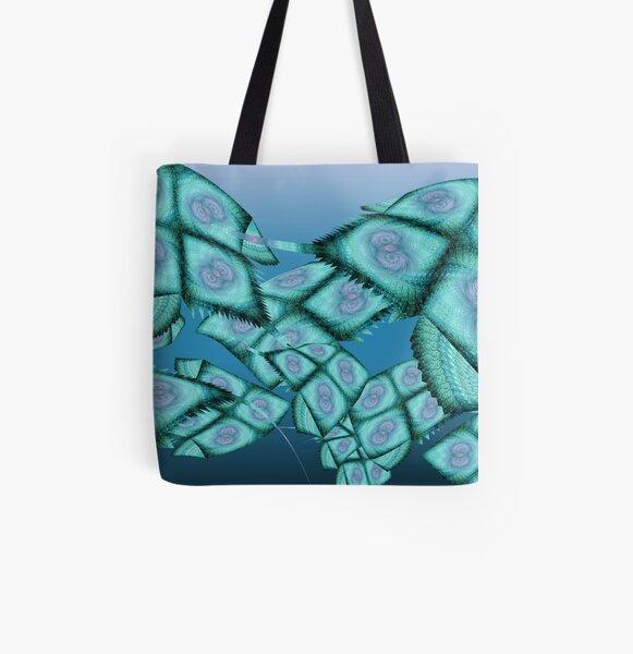 Fractal Sea All Over Print Tote Bag