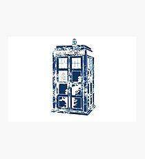Splatter the TARDIS Photographic Print