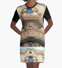 Looking up at stunning Art Nouveau architecture in Riga Graphic T-Shirt Dress