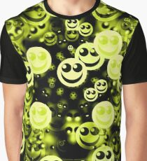 happy faces version 2,3 yellowgreen Graphic T-Shirt