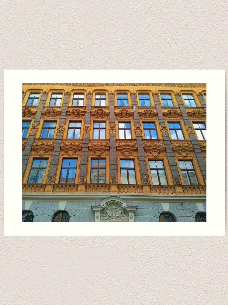 Alternate view of Riga Art Nouveau Architecture Art Print