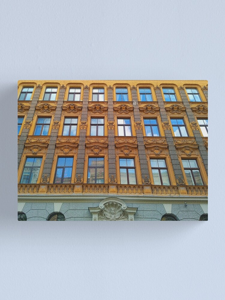 Alternate view of Riga Art Nouveau Architecture Canvas Print