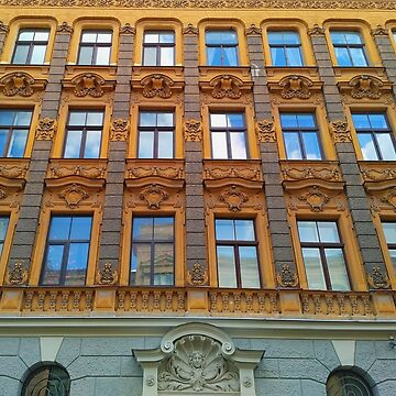 Riga Art Nouveau Architecture by TalBright