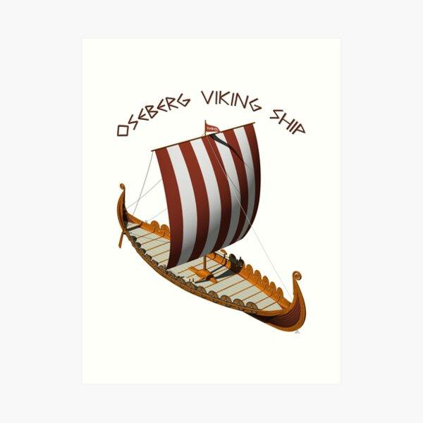 Oseberg Viking Ship Art Print