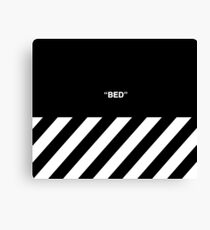 Off White Bed Canvas Print