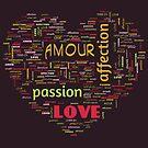 Lovers Word Cloud 2 by Cheri Sundra