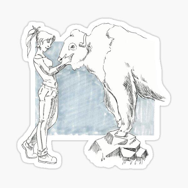 Büffelflüsterer Sticker