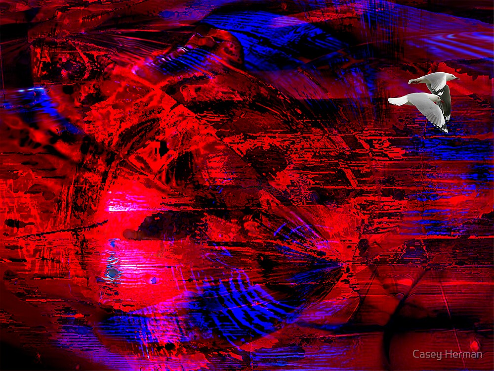 Blue Velvet Red Silk by Casey Herman