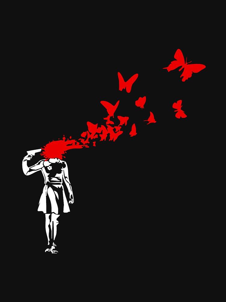 Banksy - Girl Butterfly by URBANZ