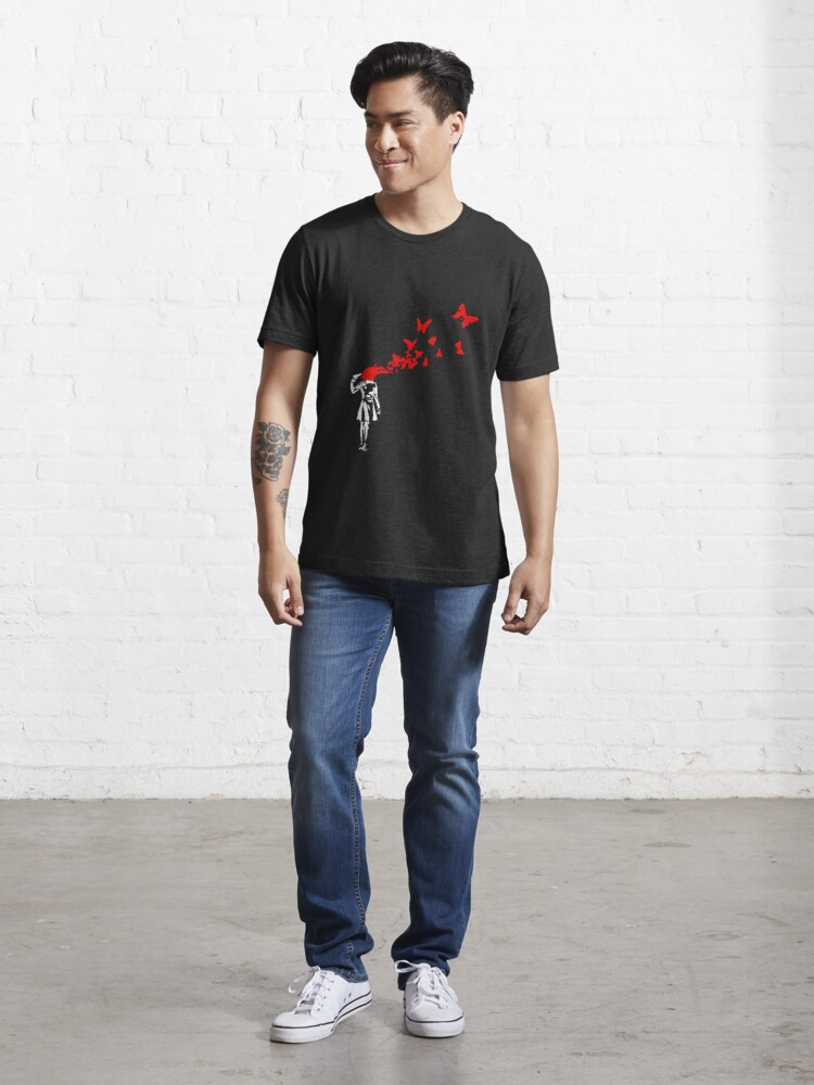 Alternate view of Banksy - Girl Butterfly Essential T-Shirt