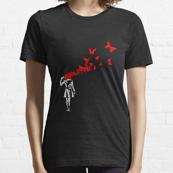 Banksy - Girl Butterfly Essential T-Shirt