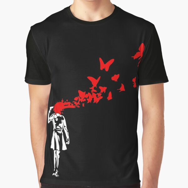 Banksy - Girl Butterfly Graphic T-Shirt