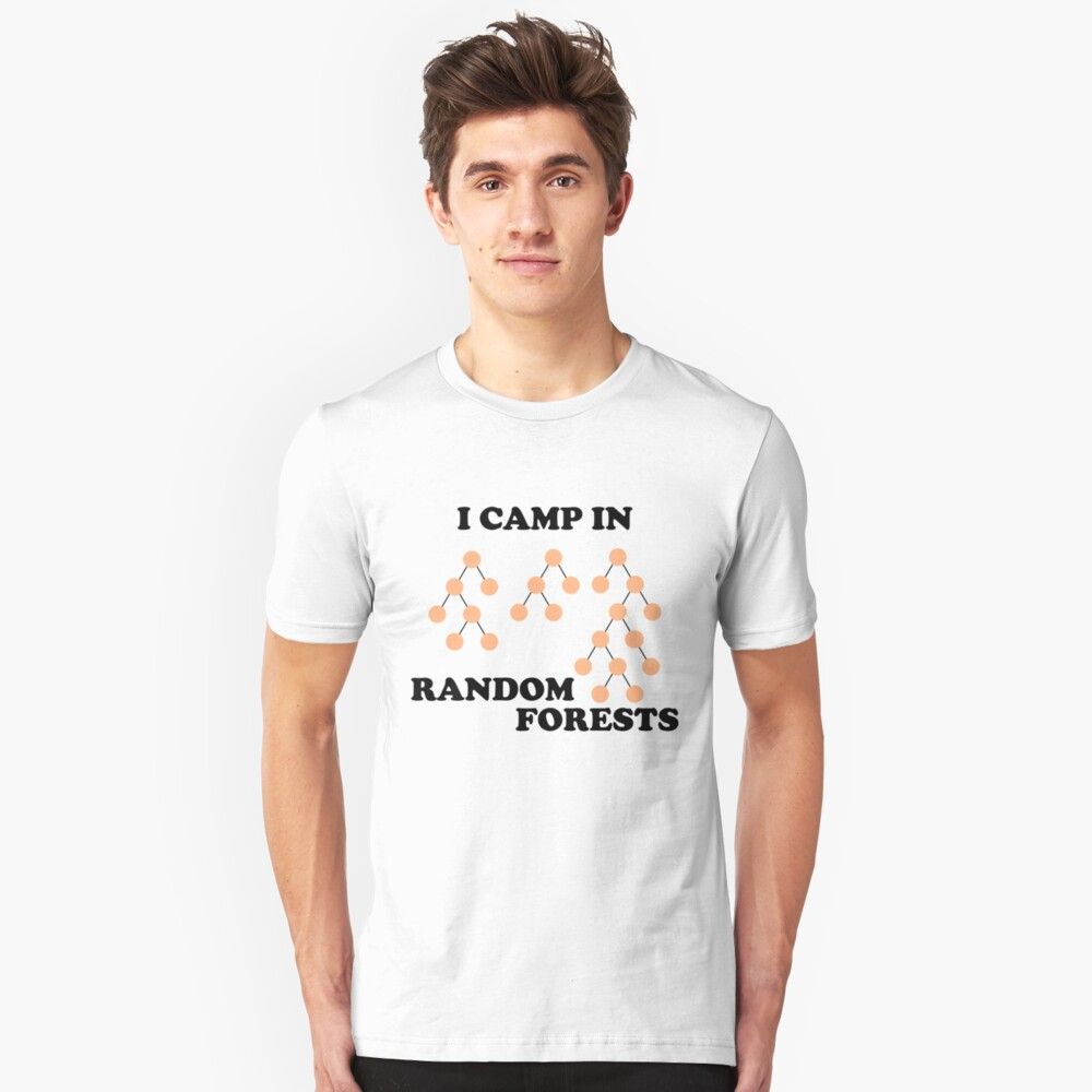 I Camp in Random Forests Slim Fit T-Shirt