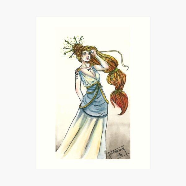 Hohe Priesterin des Windes und des Feuers Kunstdruck