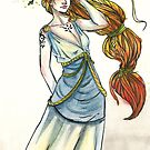 High priestress of wind and fire by PaperCat-Design