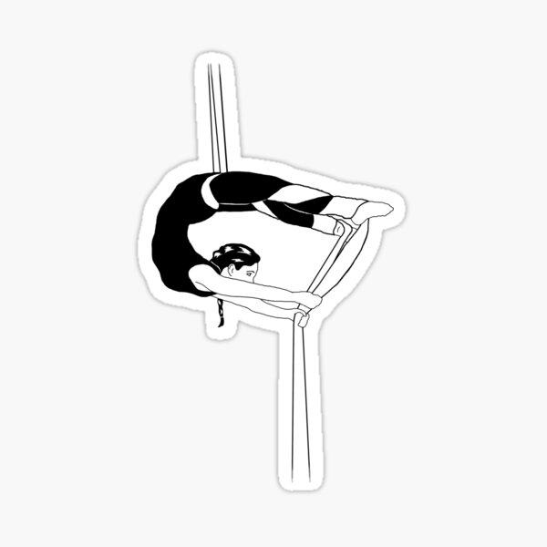 Aerial Silks Half-Monty Sticker