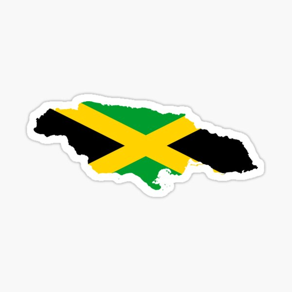 Jamaika-Karten-Flagge für Jamaika Kingston Jamaican Sticker