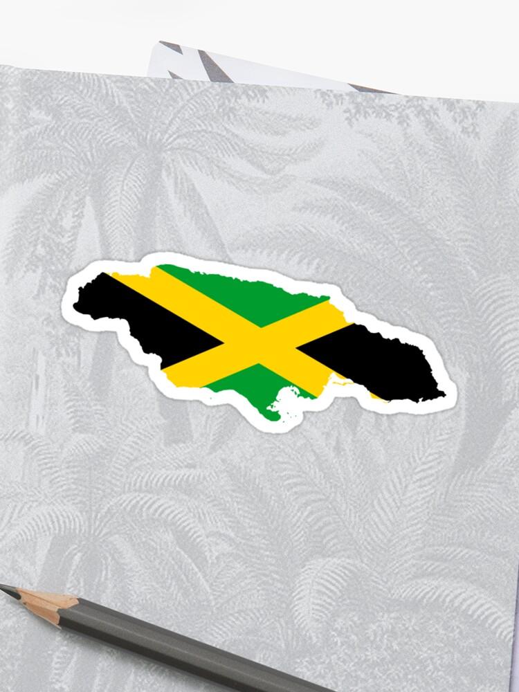 f1bfb7633 Jamaica Map Flag For Jamaica Kingston Jamaican | Sticker