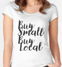 Buy Small Buy Local Gift For Vegan Organic Gluten Fitted Scoop T-Shirt