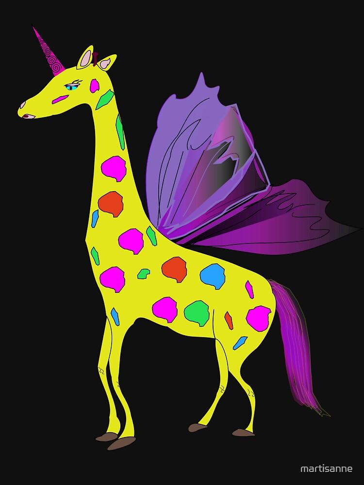 Giraffe Unicorn the mythical creature by martisanne
