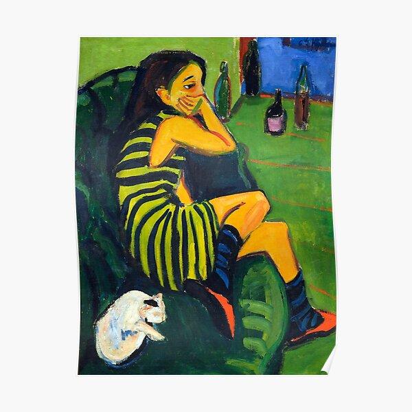 Vintage Ernst Ludwig Kirchner Artistin (Marzella) - 1910 Fine Art Poster