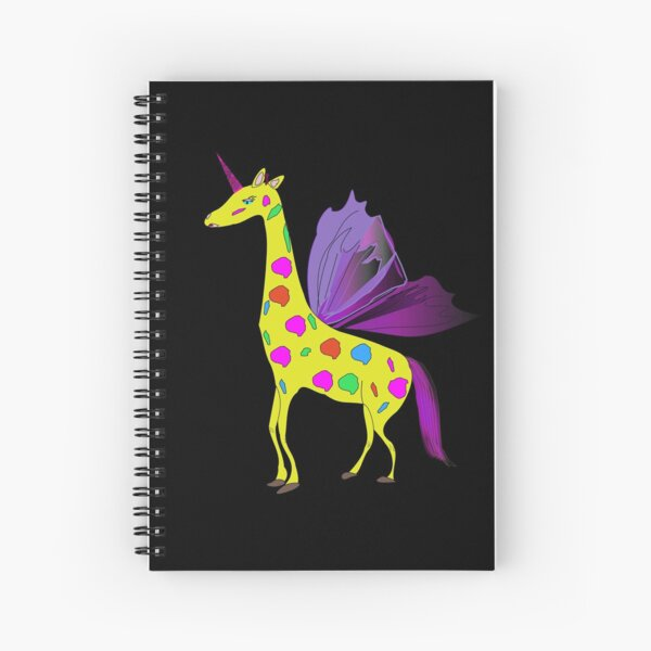 Giraffe Unicorn the mythical creature Spiral Notebook