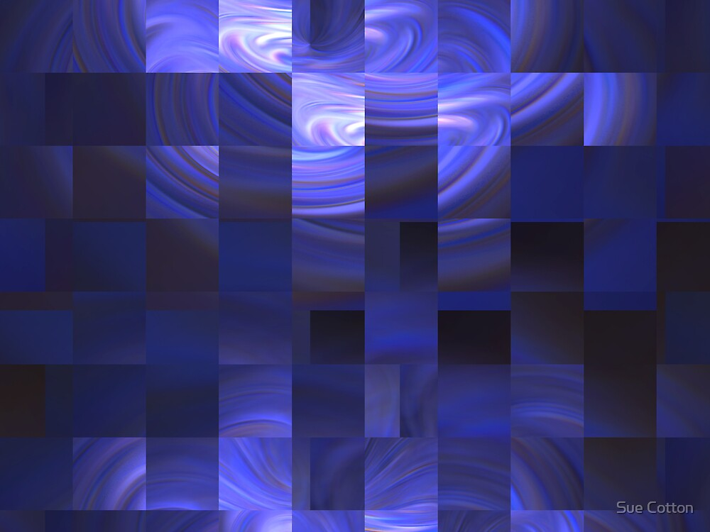 Blue Lights Mosaic by Sue Cotton