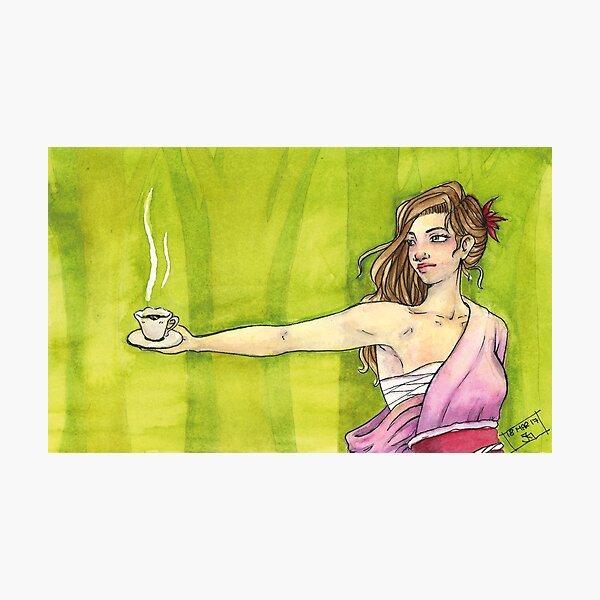 Etwas Tee? Fotodruck