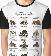 Illustrated Guide to Arachnids Graphic T-Shirt
