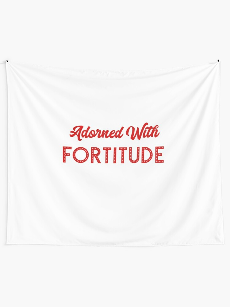 Delta Sigma Theta Gifts - Adorned With Fortitude | Wall Tapestry