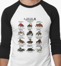Illustrated Guide to Arachnids Men's Baseball ¾ T-Shirt