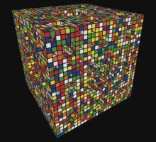 Rubik Menger Sponge, three iterations. Resistance is futile.