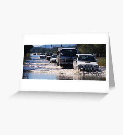 Harrington Road Flooded Greeting Card