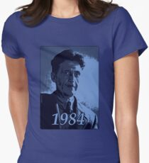 George Orwell 1984 - Blue halftone print Women's Fitted T-Shirt